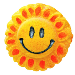 Smiley Sunflower Fizzy Bath Bomb VEGAN